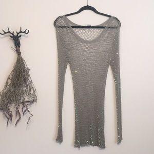 Dresses & Skirts - RARE GEM - Vintage Sequined Netted Dress / tunic